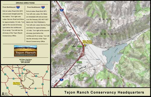 map to Tejon Ranch