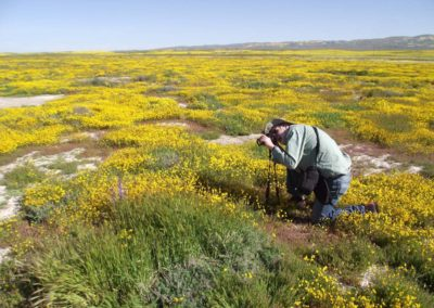 Dirk Walters photographing, Belmont Tr., Carrizo Plain