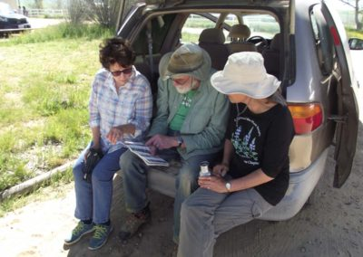Dirk reviewing Carrizo wildflower guide