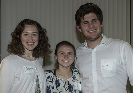 Cal Poly Assistants Celeste Doiron, Molly Vanderlip, Kieran Althaus