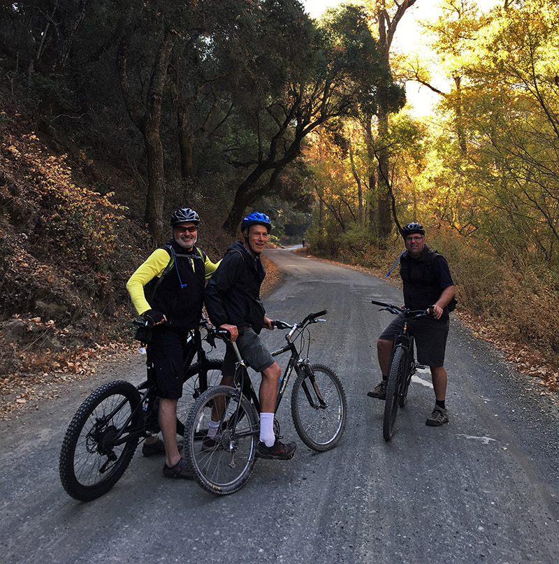 Dave, Bill, Andy - Sierra Club/CNPSSLO biking field trip Santa Rita Rd