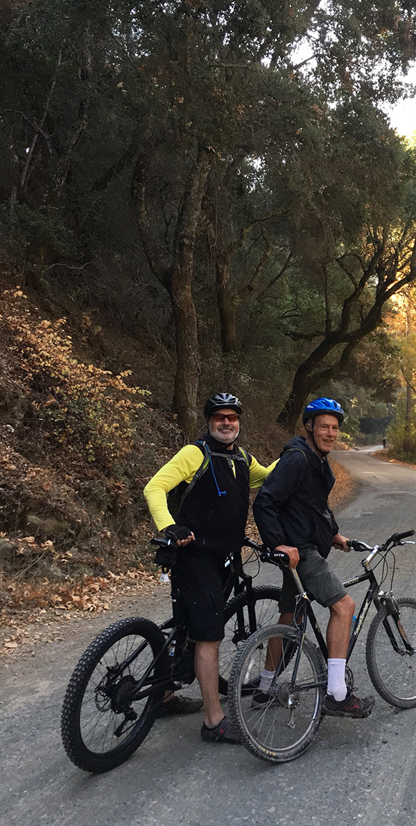 Dave and Bill - Sierra Club/CNPSSLO biking field trip Santa Rita Rd