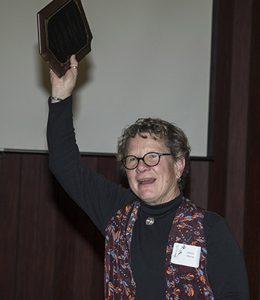 Melissa Mooney with Hoover Award