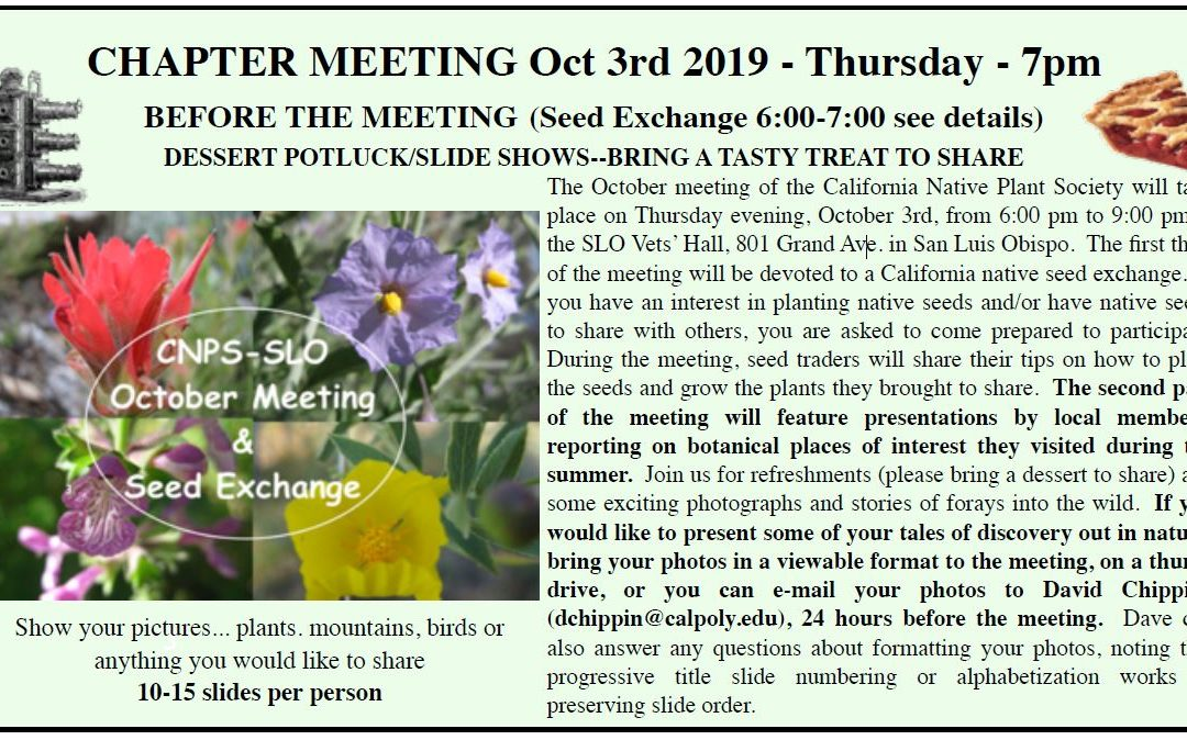 Member's Slideshow and Potluck