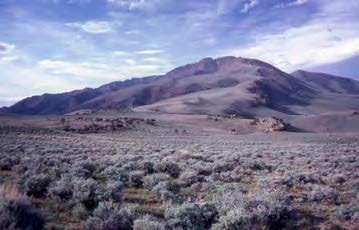 Mount Jefferson in the Toquima Range, central Nevada